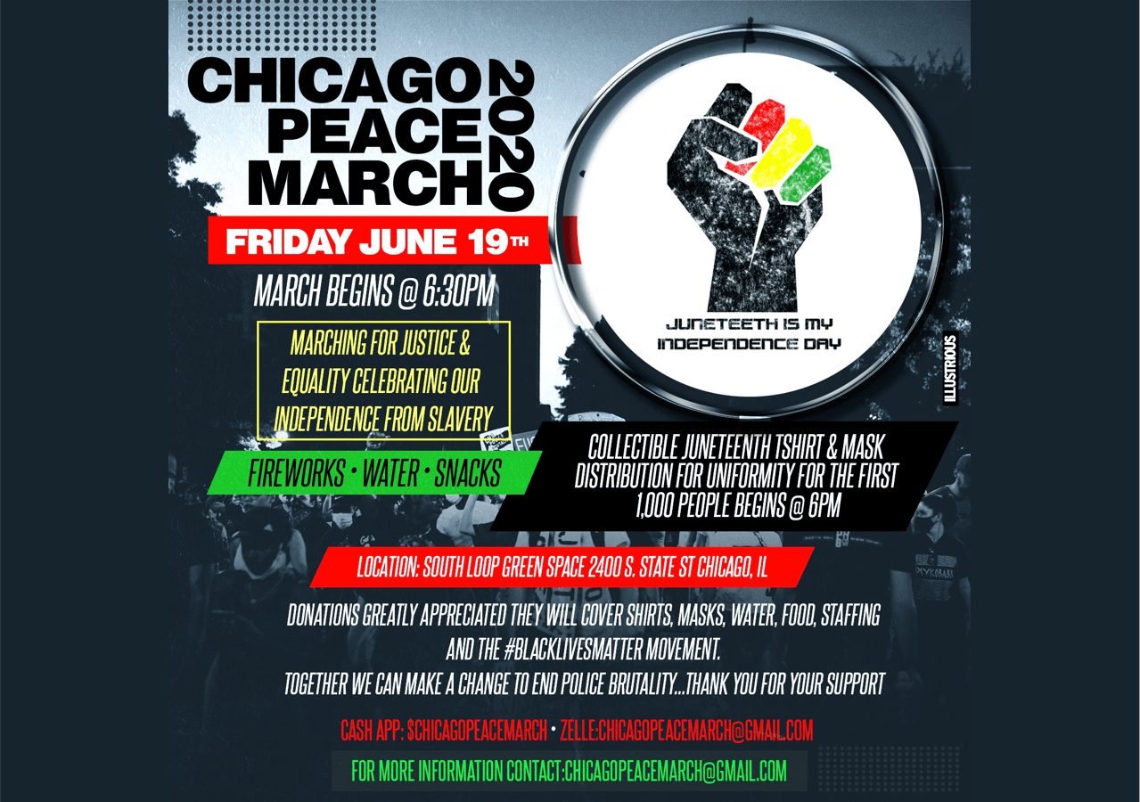 Fifty Two Wins - Juneteenth Peace March 2020